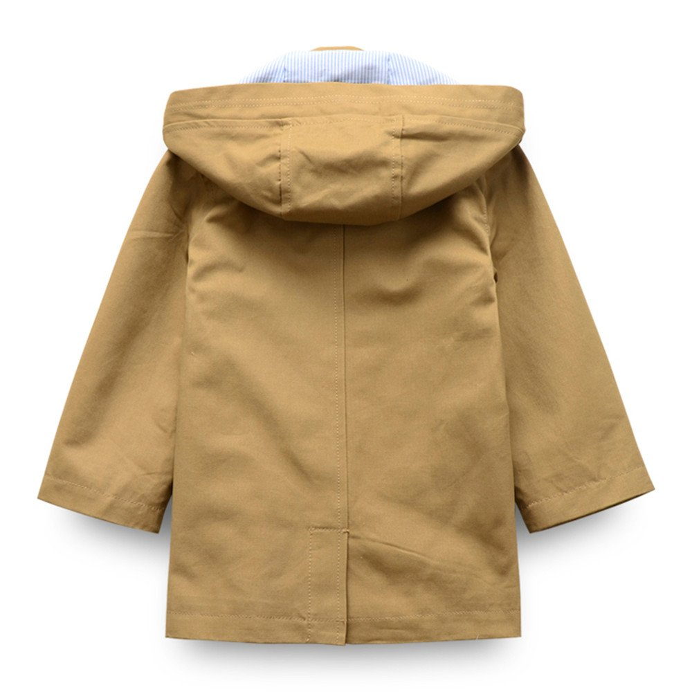 LJYH Toddler Boys Classic Peacoat Hooded Toggle Coat