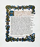 Original Art Work Calligraphy ''Amazing Grace''