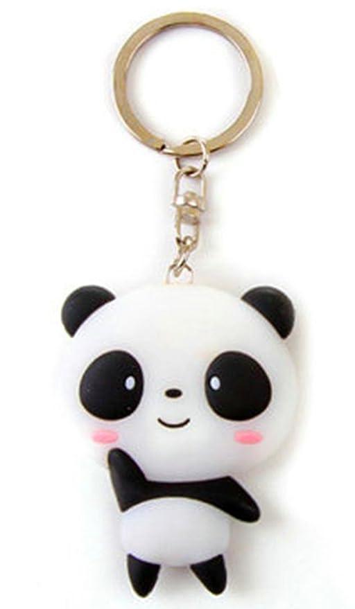 Cute Silicone Panda Cartoon Keychain Pendant(A - Panda)