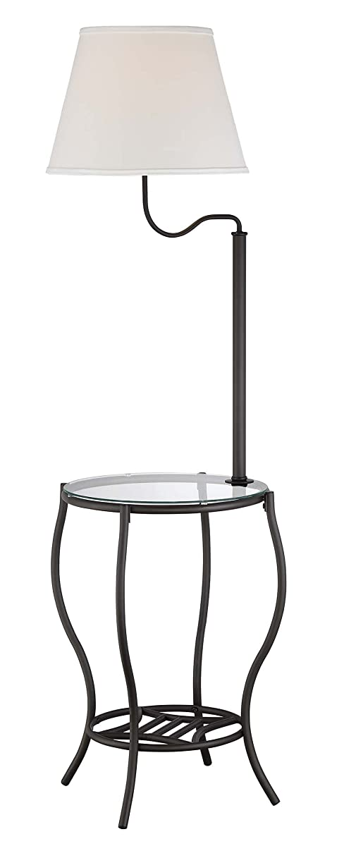 """Normande Lighting DS1-615 Glass End Table Lamp, 17.5"""" x 17.5"""" x 54"""""""