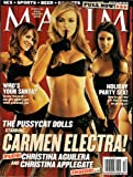 CARMEN ELECTRA MAXIM DECEMBER 2002 THE PUSSYCAT DOLLS CHRISTINA AGUILERA CHRISTINA APPLEGATE HOLIDAY PARTY SEX AND MORE!
