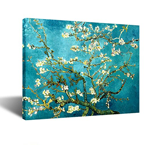 Creative Art- Canvas Prints Giclee Artwork for Wall Decor, Classic Van Gogh Artwork Oil Paintings Reproduction Almond Blossom Canvas Picture Photo Prints on Canvas Art for Wall (Blossom Painting)