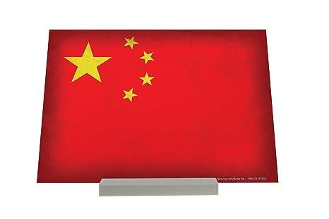 Soporte Fotografias Aventurero Bandera de China República Popular China Letrero Decoración