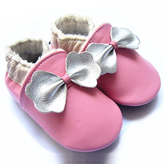 LSERVER Chaussures Bébé en Cuir Souple Premiers Pas Chaussons Semelle  Douce  Amazon.fr  Chaussures et Sacs 261c9f14e574