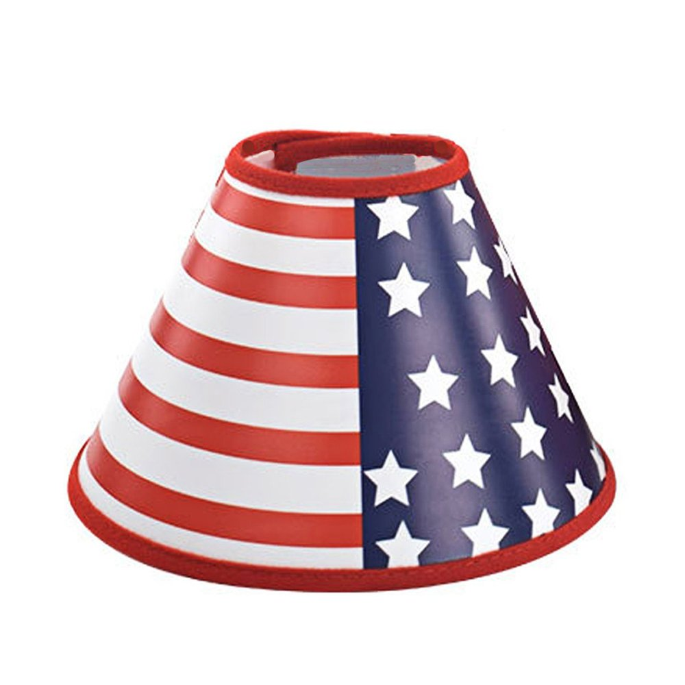 American Flag Recovery Dog Cat Cone E-Collar, Adjustable Pet Cone E-Collar for Cats and Dogs Protective Touching Stitches by Amakunft