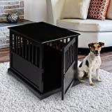 Casual Home 600-42 Wooden Pet Crate 20'W x 27.5'D x 24'H Black