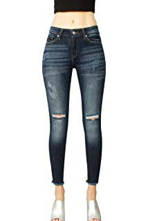 Kan Can Womens Mid Rise Super Skinny Jeans - Basic - KC7092 ...