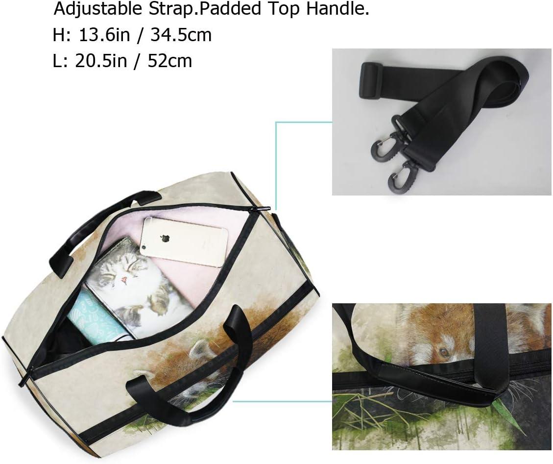 MALPLENA Animal Lemur Watercolor Painting Packable Duffle Bag For Men Women Tear Resistant Sports Duffle