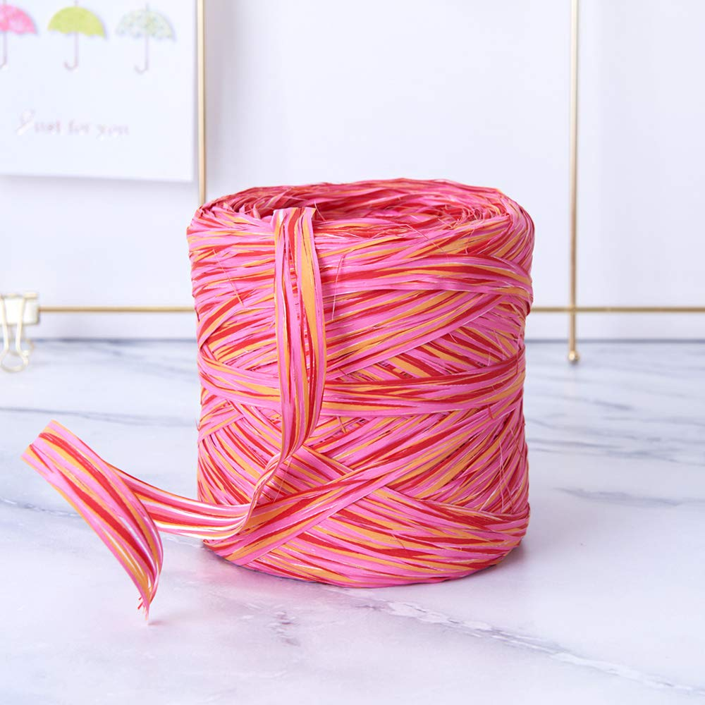 Fruit Colored Paper Raffia, 200 Meters / 218 Yards by Funbou