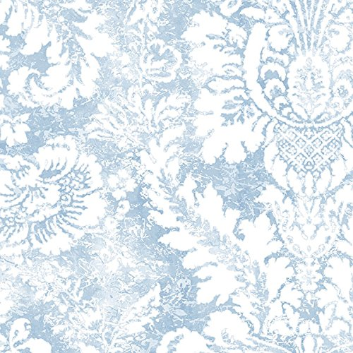 Manhattan comfort NWAB42422 Greenwich Series Vinyl Faded Damask Design Large Wallpaper Roll, 20.5