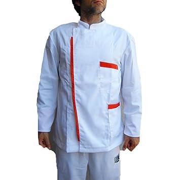 Chaqueta Kimono Bar Trabajo cocinero barbería Peluquería Camarero Chef construcción Hombre, bianco, L: Amazon.es: Deportes y aire libre
