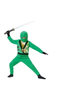 Charades Child's Ninja Avenger Series 4 Costume, Jade Green, Medium