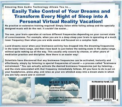 Lucid Dream Binaural Beats Meditation CD - Brainwave Entrainment Music for  Dream Control CD