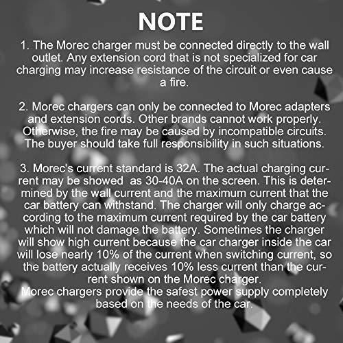 Morec 32 Amp EV Charger Level 2, NEMA14-50 26ft 220V-240V Upgraded Portable EV charging cable Station, Electric vehicle charger Compatible with All EV Cars. by Morec (Image #6)