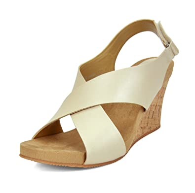 0b1ea9787df8 TOETOS Solsoft 1 New Women s Casual Open Toe Cross-Strap Mid Heel Platform  Wedges Sandals