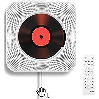 Draagbare cd-speler met aan de muur te monteren Bluetooth HiFi-luidsprekers, home audio boombox met afstandsbediening FM…