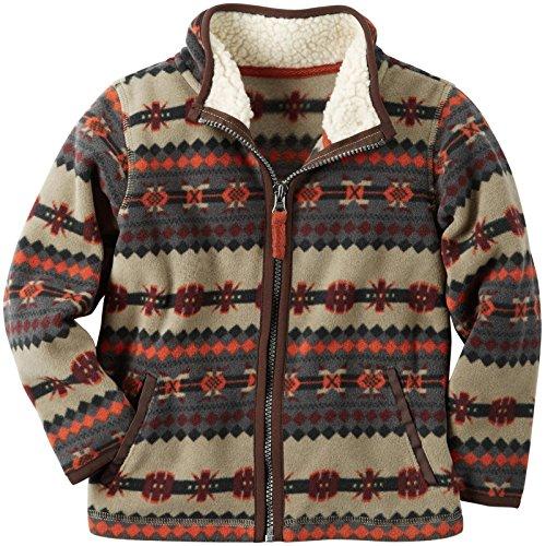 Carters Patterned Zip Front Jacket