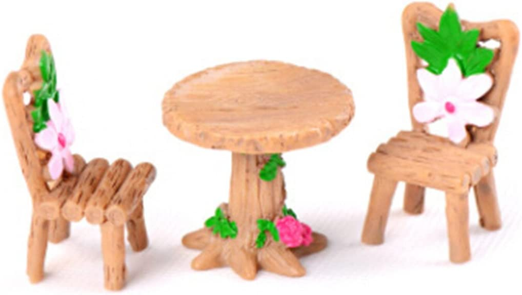 Yesiidor Micro Landscape Decor Creative Lovely Table Chair Resin ...