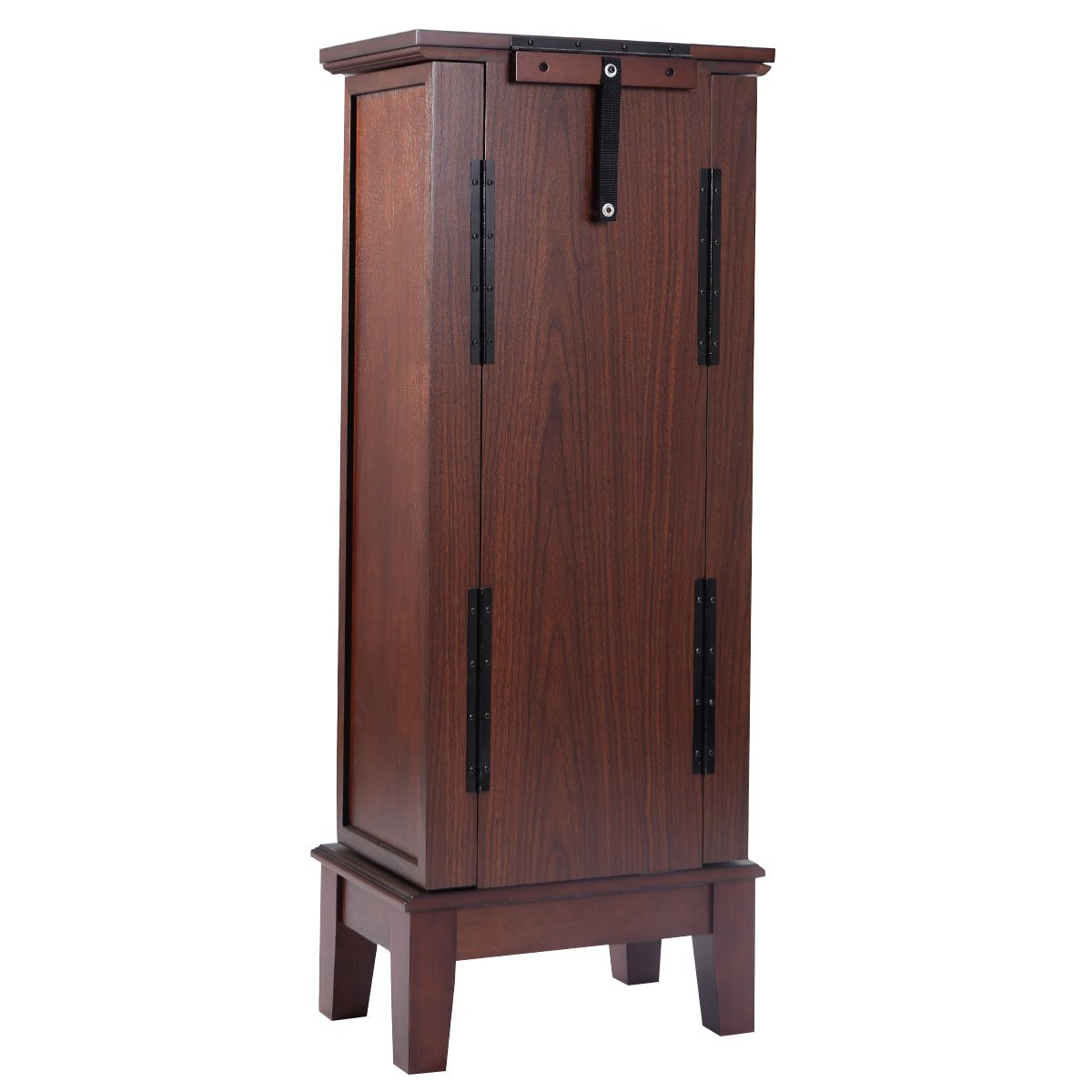 Giantex Wood Jewelry Cabinet Armoire Storage Box Chest Stand Organizer Necklace by Giantex (Image #4)