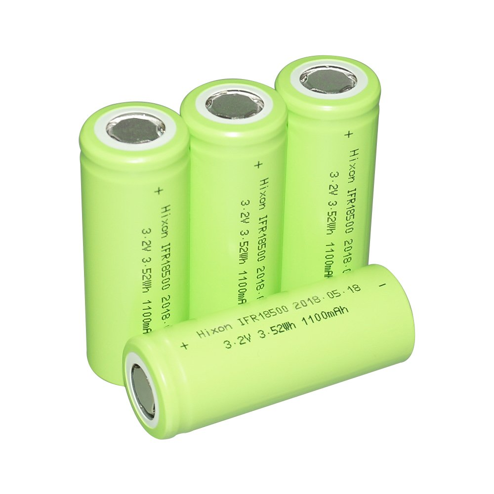Hixon LiFePO4 IFR 18500 Rechargeable Battery 3.2V 1100mAh Garden Lamps Solar Lights Battery(4pcs)