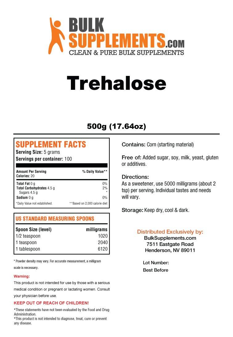 Bulksupplements Trehalose Powder (500 grams) by BulkSupplements (Image #2)