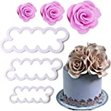 Palker Sky Cake Decorating Gumpaste Flowers & The Easiest Rose Ever Cutter Pack of 3