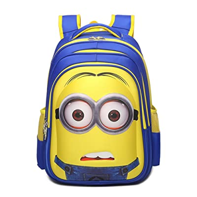 YOURNELO Boy's Girl's Cartoon 3D Minions School Backpack Rucksack