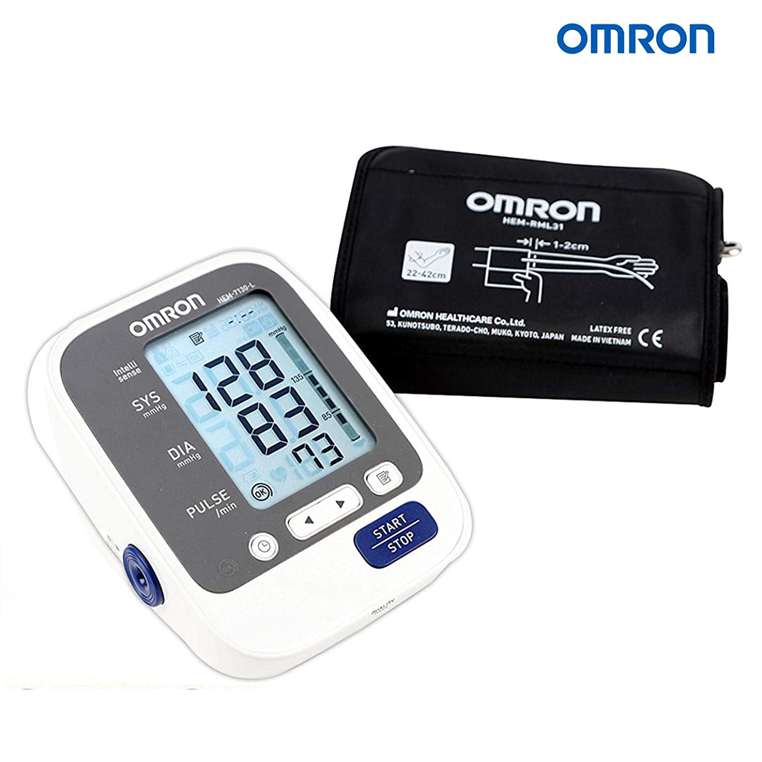 Omron HEM 7130L Fully Automatic Digital Blood Pressure Monitor