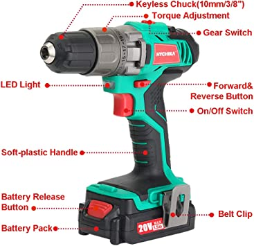 HYCHIKA BETTER TOOLS FOR BETTER LIFE DD-18BC Power Drills product image 2