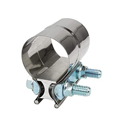 """yjracing 2"""" Stainless Exhaust Band Clamp Step Clamps for Catback Muffler Downpipe: Automotive"""