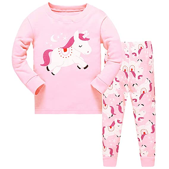 Girls I Dont Care Im a Unicorn Cute Cotton Long Pyjamas