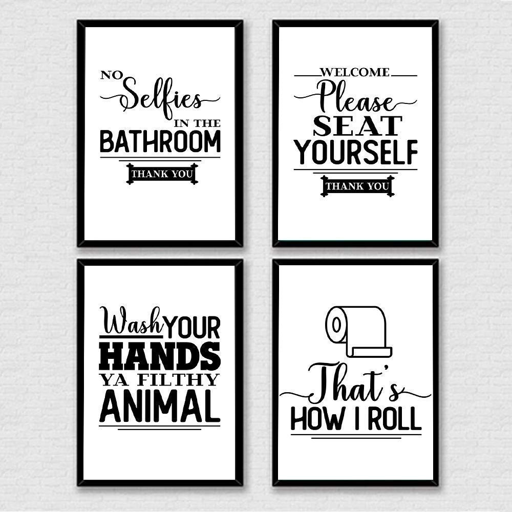 Amazon.com: Bathroom Quote Print, Sayings Wall Art, No ...