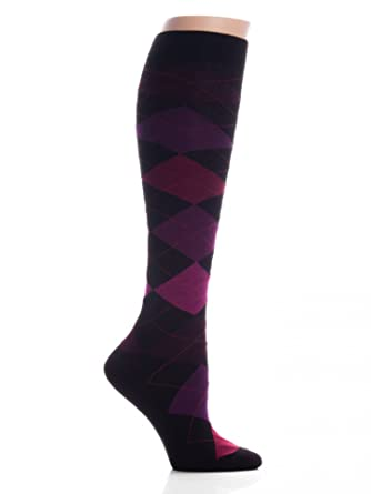 d33b25fa8 HUE Argyle Knee Socks at Amazon Women s Clothing store