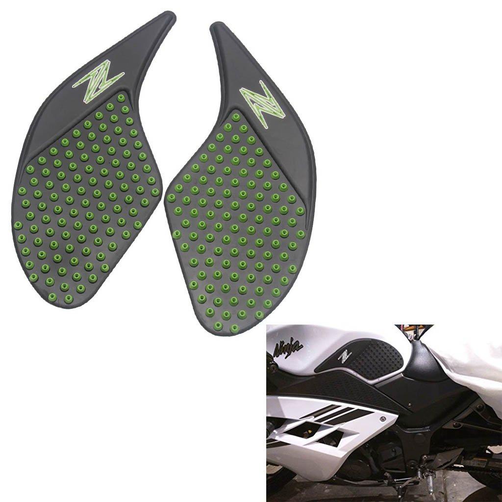 Tank Gas Pad Knee Fuel Side Grips Protector For Kawasaki Z250 Z300 2008-2018 (Green)