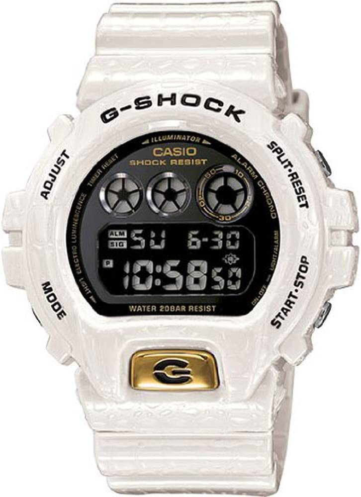 Casio G-Shock Limited Edition Crocodile Textured White Resin Mens Watch DW6900CR-7CR