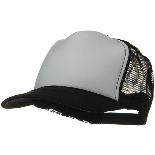 162c685408d OTTO Two Tone Polyester 5 Panel Foam Front Mesh Back Cap - Black White at  Amazon Men s Clothing store  Baseball Caps