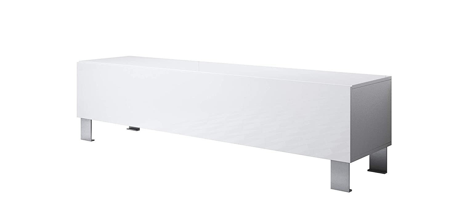 Mueble TV Modelo Luke H2 (160x42cm) Color Blanco con Patas ...