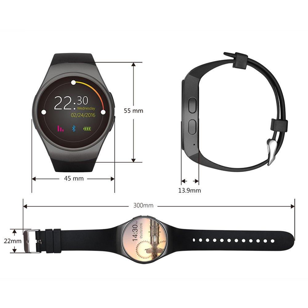 Bluetooth SmartWatch para Android, iOS, Fitness multifunción ...