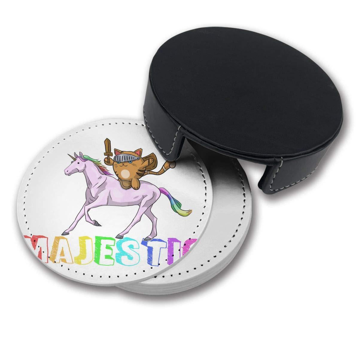Amazon.com: Unicorn for Cats Catcorn Warrior Pu Leather Car ...