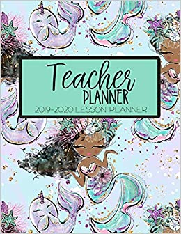 photograph about Teacher Plan Books known as Trainer Planner 2019 - 2020 Lesson Planner: Mermaid Black