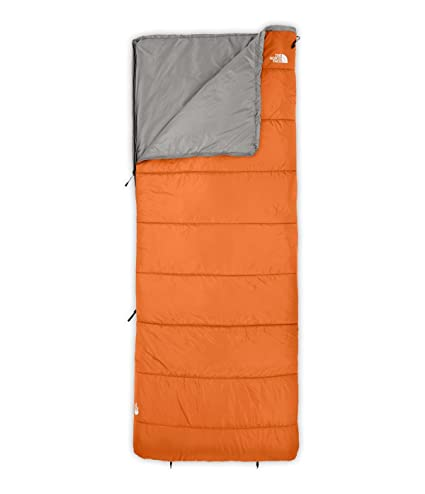 The North Face Wasatch 45 Rectangular Saco de Dormir otoñal Naranja/Zinc Gris Regular