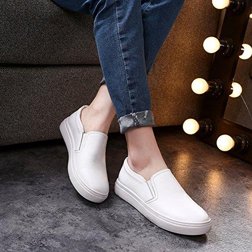 Los zapatos de cuero plano en primavera y verano/Un pedal ocio zapatos/ zapatos suela gruesa de los amantes B