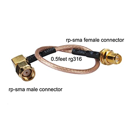 Pc-case 0.5ft Rf Electrical Wire Coaxial Cable Terminal Connector Rp-sma Female