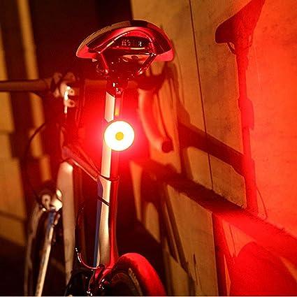 Schwarz LED Fahrrad Rücklicht Rückleuchte Lampe Wasserdicht 2 Modi Lampe AKKU