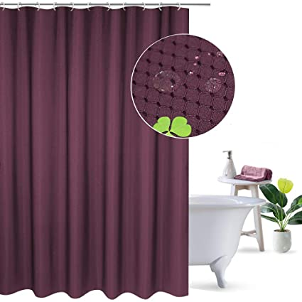 UFRIDAY Purple Shower Curtain Extra Long 54 X 78 Classic Waffle Check