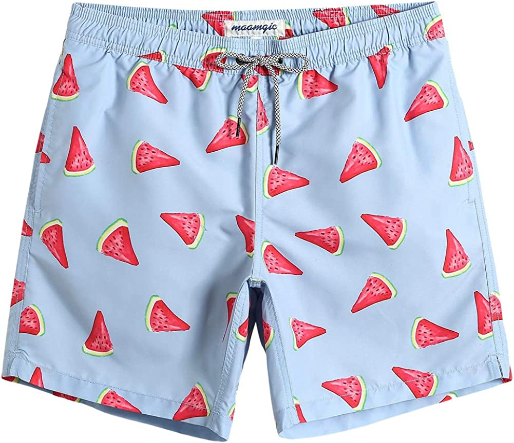 Mens Love Birds Quick Drying Ultra Light Swim Trunks