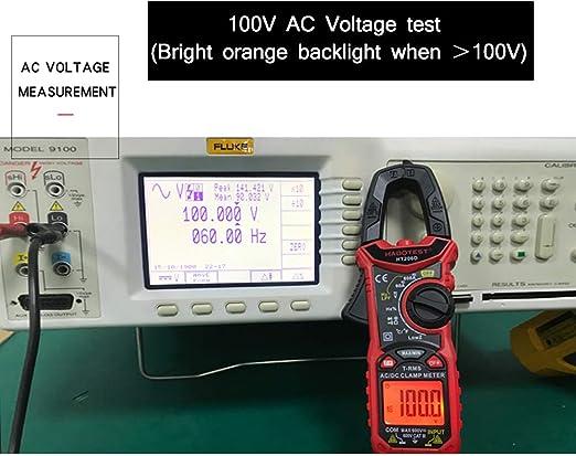 Roeam Stromzange Multimeter Digitales Ac Dc Zangenmessgerät Zur Messung Von Ac Dc Spannung Ac Dc Strom Frequenz Einschaltdauer Diode Widerstand Durchgang Transistortest Ncv Zangenmultimeter Küche Haushalt