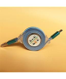 Hanbaili Tipo C 1 metro de cable, LED Glow tipo C a USB 3.1 de datos de carga cable retráctil para Samsung S8 Note8 LG Nexus HTC