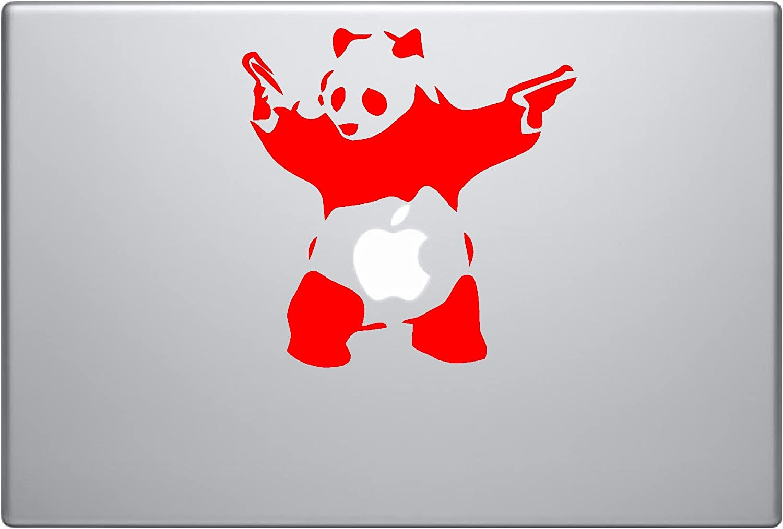 Banksy Shooting Panda Vinyl Car Sticker Symbol Silhouette Keypad Track Pad Decal Laptop Skin Ipad MacBook Window Truck Motorcycle