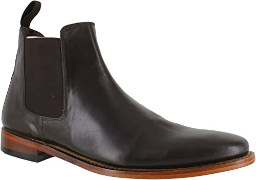 Mens All Leather Chelsea Boots 3013